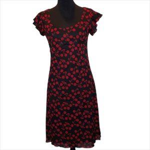 Red and Black Girls Trixxi Dress.          D069